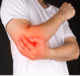 man-holding-elbow-in-pain