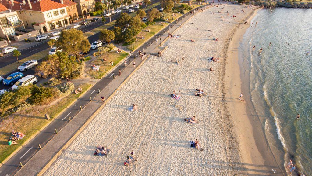 port phillip st kilda beach